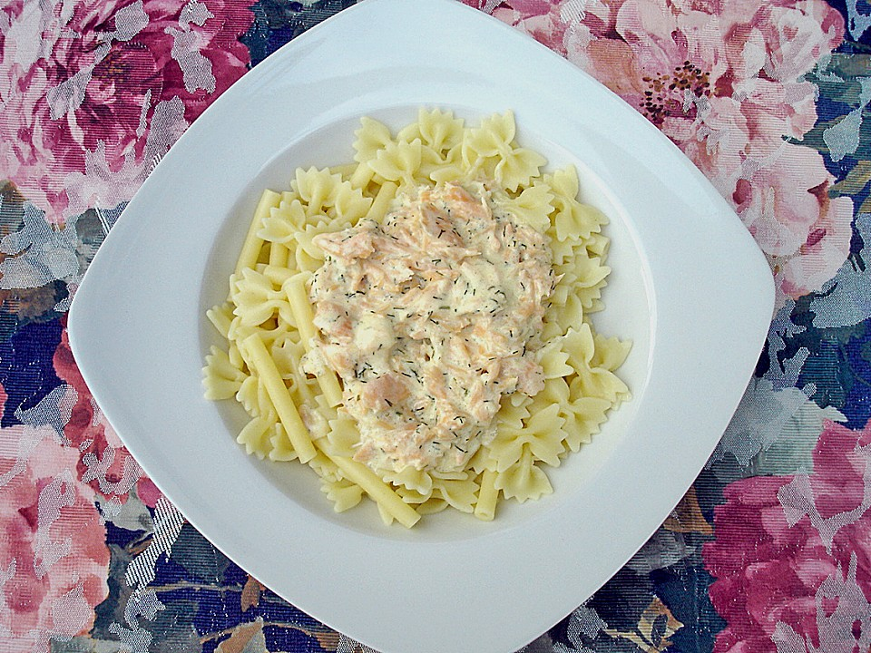 lachs mit spaghetti rezept mit bild von jungpana. Black Bedroom Furniture Sets. Home Design Ideas
