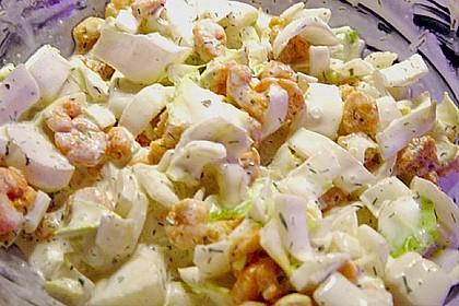 Chicoreesalat mit Krabben 2