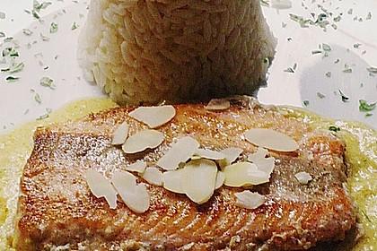 Wildlachsfilet in Honig-Senf Sauce 1