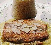 Wildlachsfilet in Honig-Senf Sauce (Bild)