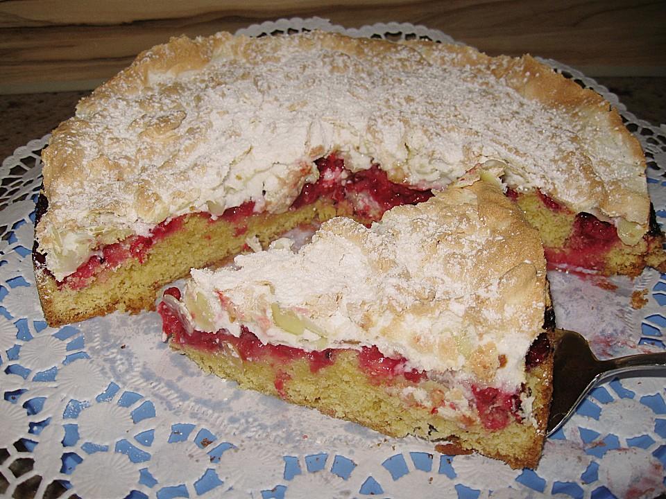 Uschis Gute Küche | Uschis Johannisbeerkuchen Mit Mandelbaiser Rezept Mit Bild