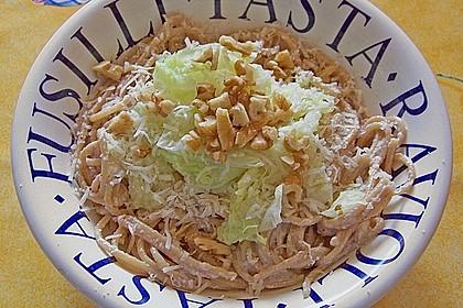Wirsing - Spaghetti mit Walnuss - Sauce 4