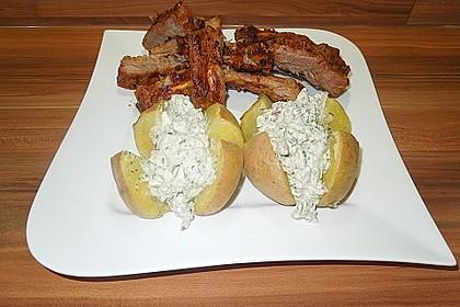Backkartoffeln mit Frühlingsquark 4