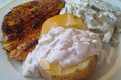 Backkartoffeln mit Frühlingsquark 3