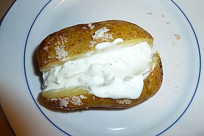 Backkartoffeln mit Frühlingsquark 5