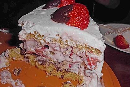 Erdbeer - Knispel - Torte 4