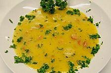 Kartoffelsuppe schlesische Art mit Majoran, Speckstippe und Würstchen