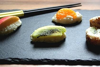 Sushi mal anders - süß als Dessert 4