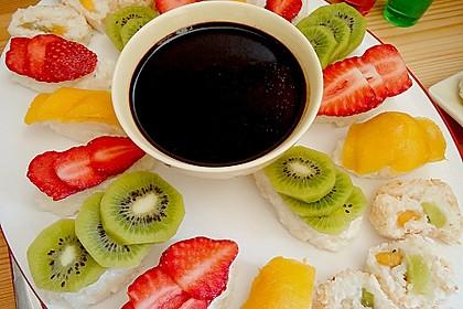 Sushi mal anders - süß als Dessert 1