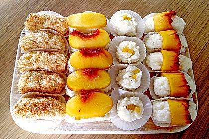 Sushi mal anders - süß als Dessert