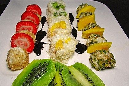Sushi mal anders - süß als Dessert 2