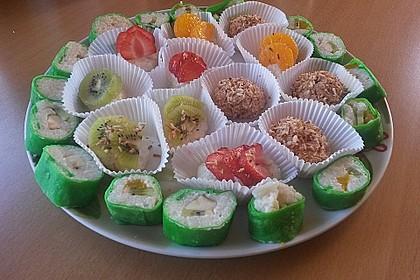 Sushi mal anders - süß als Dessert 10