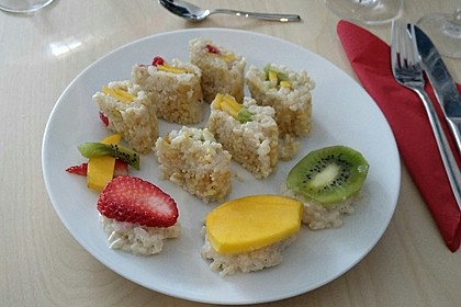 Sushi mal anders - süß als Dessert 11