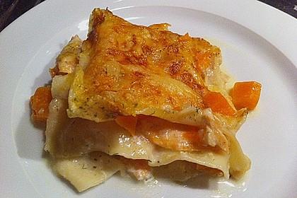 Kürbis - Lachs - Lasagne 6