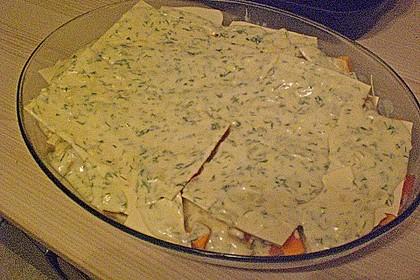 Kürbis - Lachs - Lasagne 86