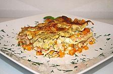 Kürbis - Lachs - Lasagne