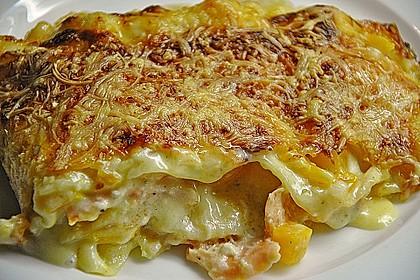 Kürbis - Lachs - Lasagne 64