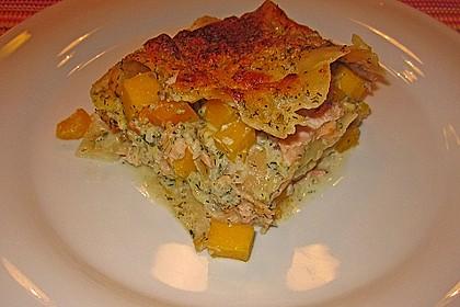 Kürbis - Lachs - Lasagne 7