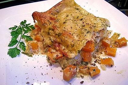 Kürbis - Lachs - Lasagne 5