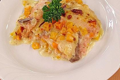 Kürbis - Lachs - Lasagne 11