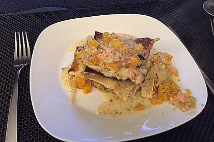 Kürbis - Lachs - Lasagne 34