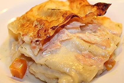 Kürbis - Lachs - Lasagne 12