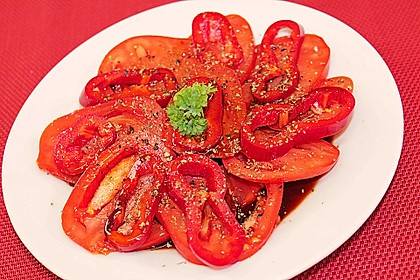 Paprika - Tomaten Salat