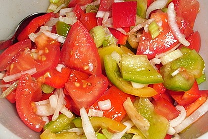 Paprika - Tomaten Salat 1