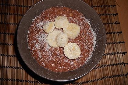 Schoko - Bananen - Kokos - Porridge 8