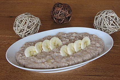 Schoko - Bananen - Kokos - Porridge 9