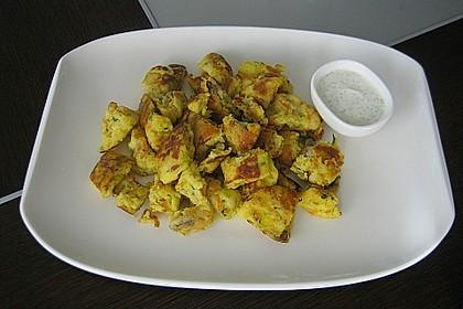 Gemüseschmarren mit Knoblauchdip 7