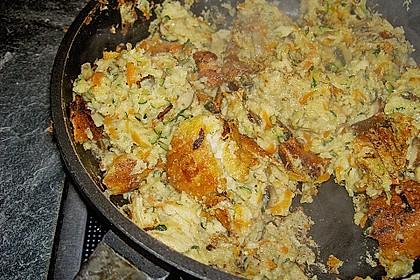 Gemüseschmarren mit Knoblauchdip 55