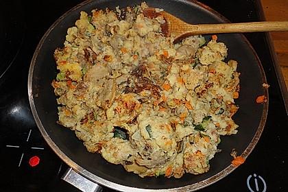 Gemüseschmarren mit Knoblauchdip 56