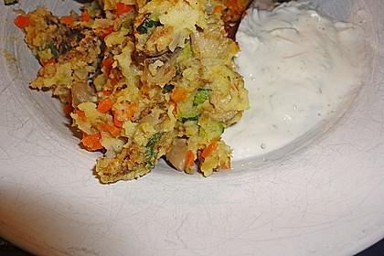 Gemüseschmarren mit Knoblauchdip 53