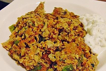 Gemüseschmarren mit Knoblauchdip 31