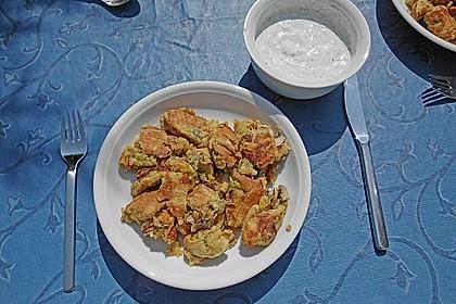 Gemüseschmarren mit Knoblauchdip 22