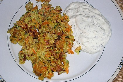 Gemüseschmarren mit Knoblauchdip 23