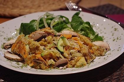 Gemüseschmarren mit Knoblauchdip 11