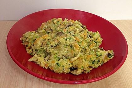 Gemüseschmarren mit Knoblauchdip 50