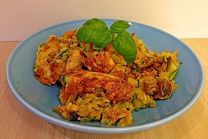Gemüseschmarren mit Knoblauchdip 21