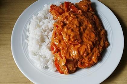 Schnitzel in Paprika - Rahmsauce 5