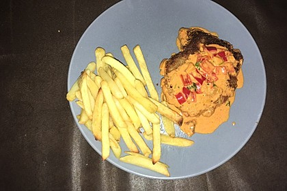 Schnitzel in Paprika - Rahmsauce 16