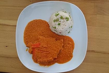 Schnitzel in Paprika - Rahmsauce