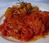 Schnitzel in Paprika - Rahmsauce (Bild)