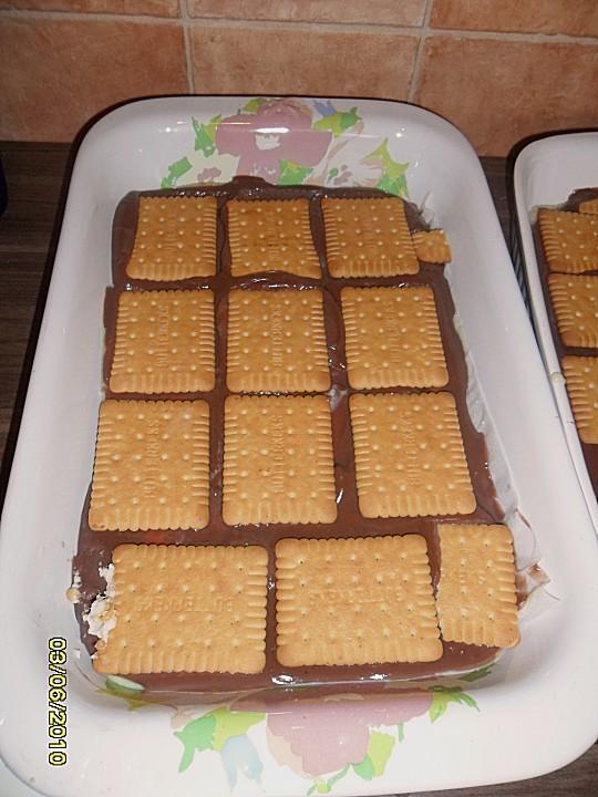Butterkeks kuchen vanillepudding