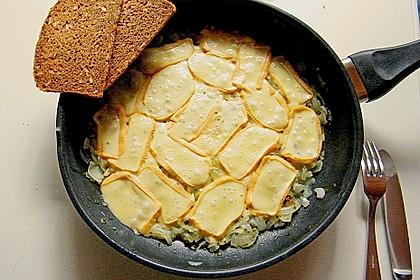 Maurerkotelett oder gedämpfter Käse