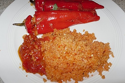 Gefüllte Spitzpaprika mit Couscous 45