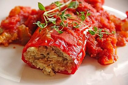 Gefüllte Spitzpaprika mit Couscous 2