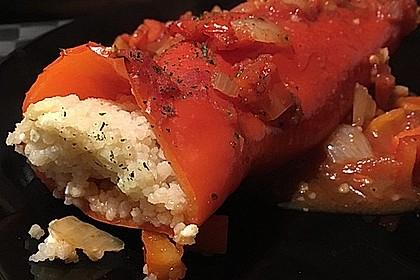 Gefüllte Spitzpaprika mit Couscous 14