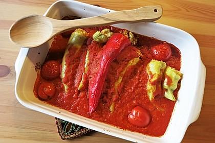 Gefüllte Spitzpaprika mit Couscous 5